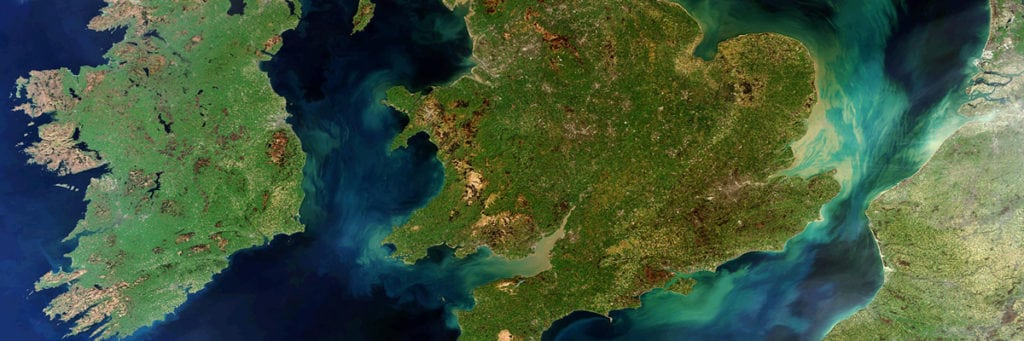 British Isles from space, courtesy of the ESA